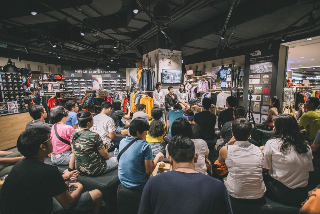 ร้าน the north face Siam Discovery